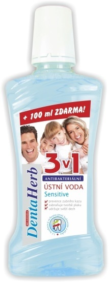 DENTA HERB Ústna voda White Mint Sensitive